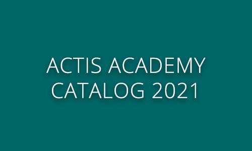 Actis Academy catalog